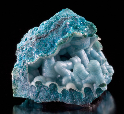 Chrysocolla coated by Chalcedony from Arizona