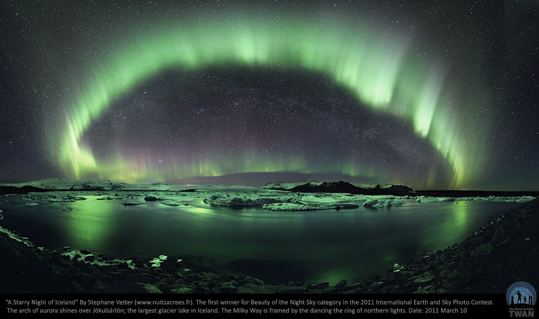 """A Starry Night of Iceland"" by Stephane Vetter. More awesome night sky photos here. #"