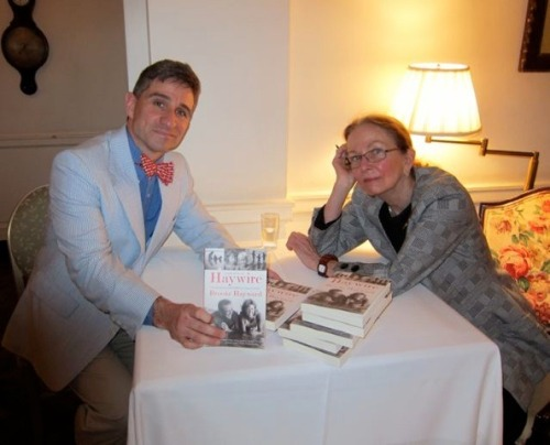 At a luncheon at the Colony Club today with the author Brooke Hayward.