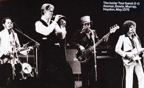 Bowie and band