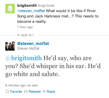 River and Captain Jack via hogwartsandthetardis: