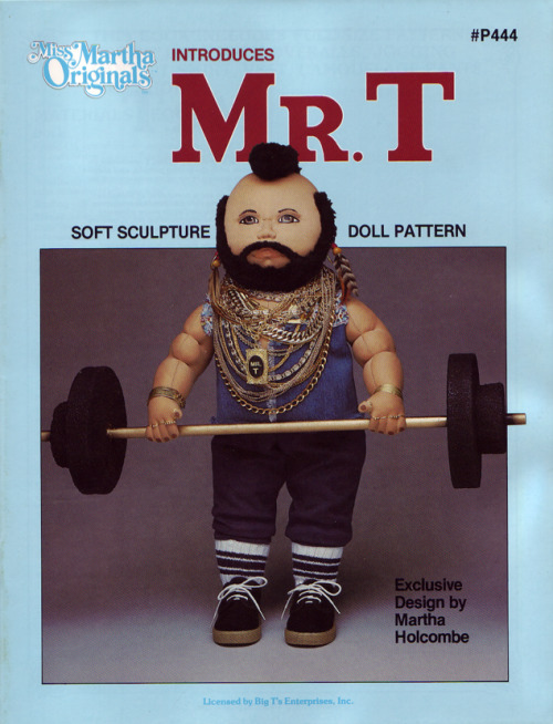 Miss Martha Originals Mr. T Soft Sculpture Doll Pattern