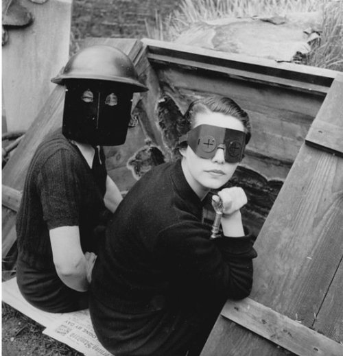 Lee Miller, Women With Fire Masks, Downshire Hill, 1941