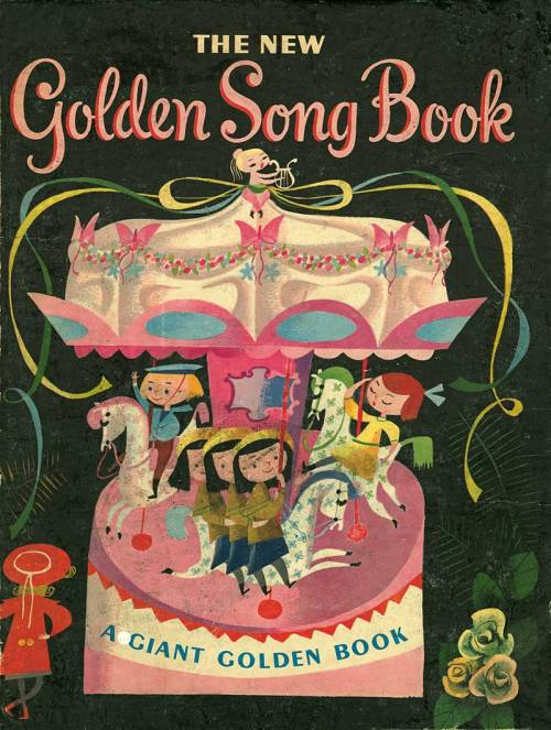 Artwork by Mary Blair for The New Golden Song Book - 1955
