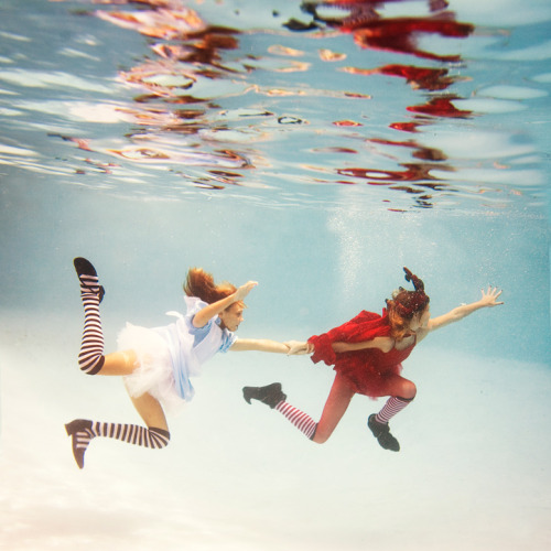 "darklamb:  ""Alice in Waterland"" by Elena Kalis, at BenTrovato."