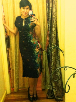 outfit for today:  dress from the Little Shop of Hers in Old Town; vintage shoes from Bang! Bang! in Arcata.