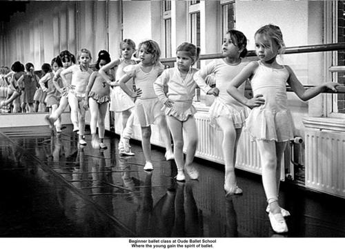 Beginner Ballet Class at Oude Ballet School.