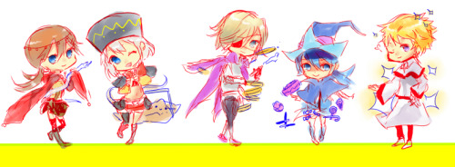 Chibi DAF characters, I will try to add atleast 5 more characters :-D  + From Left to Right:- -Vita (c) Me -Xiu Mei (c) ririkuto -Clyver (c) inma -Kamiyu (c) shuryougospel13 -Greg (c) shiroisuisei