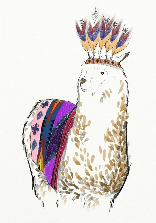 Llama with orna orna by Amanda Mitsuri The Orna Orna (via)