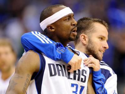 "jasjuliet:  Jason Terry and JJ Barea (from my island, Puerto Rico, and we're shamelessly proud of him tonight) proved they were clutchier than the Heat in Game 5. Let's not forget Fuhrer Dirk's 29 points, but these guys and deserve an honorable mention. Huge shout out to Chandler, Marion, and Kidd for their defense and play making. I think…I think we might win it, guys.    Re-blogged for the word ""clutchier"" I like it."