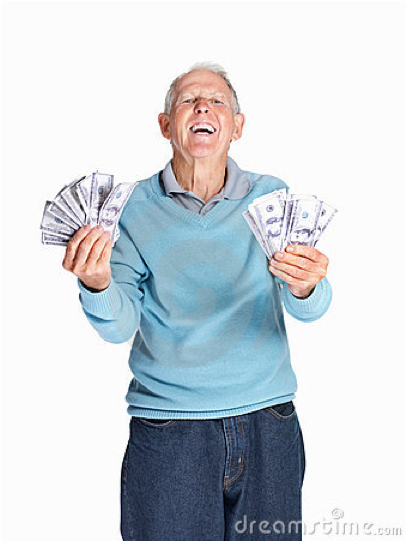 John insisted on dollar bills when he cashed his fortnightly seniors cheque. He just felt like more of a high-balling moolah pimp that way.