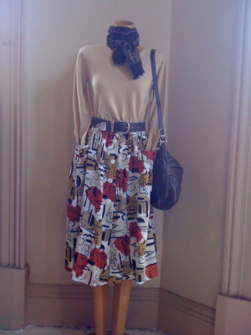 Ochre preview Cashmere v neck SOLD Button front skirt $48 Leather belt $20 Leather bag $40 Scarf $8