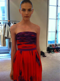 Paris 8:31 - preview on my new resort collection… Karlina modelling