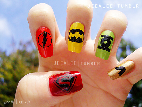 DC Comics Superheroes Nails