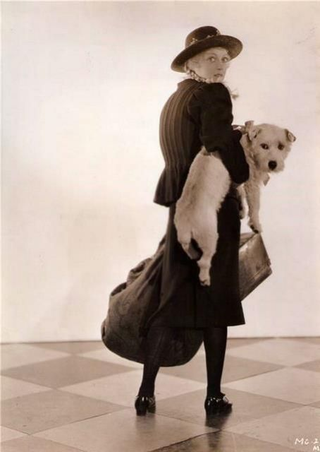Marion Davies and a little friend - c. 1930s