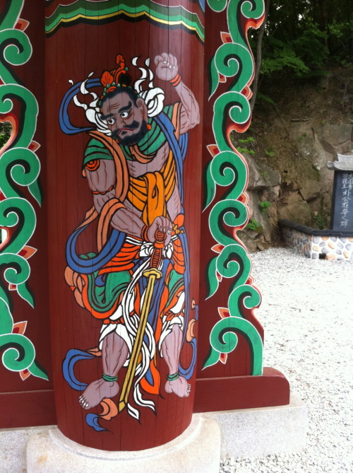 Temple guardian at Dobongsan Mountain.
