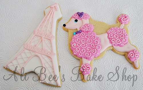 pink poodle 1 (by Ali Bee's Bake Shop)