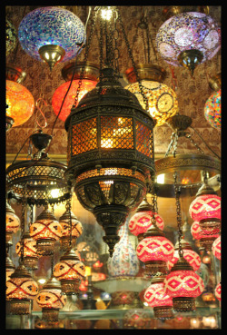 Lanterns in The Grand Bazaare Istanbul, Turkey submitted by: http://dshingy.tumblr.com/, thanks!