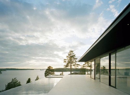 Swedish Villain's Lair Influenced by Neutra, Stockholm archipelago By John Robert Nilsson Arkitektkontor