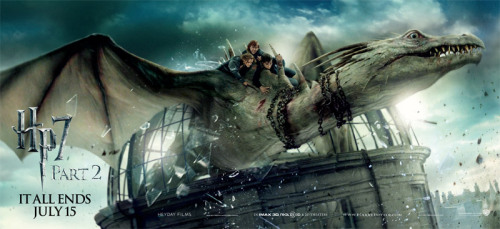 New Deathly Hallows Posters/Banners (2 of 2) | ONTD Sorry that this one is kind of spoiler-y but I couldn't pass up posting it for the parallelism it has with Mary Grand Pre's special edition art from the final book…  (Editor's note: Looks like they screwed up the dragon's eyes.)