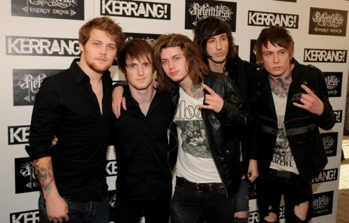 Asking Alexandria at the 2011 Kerrang Awards.
