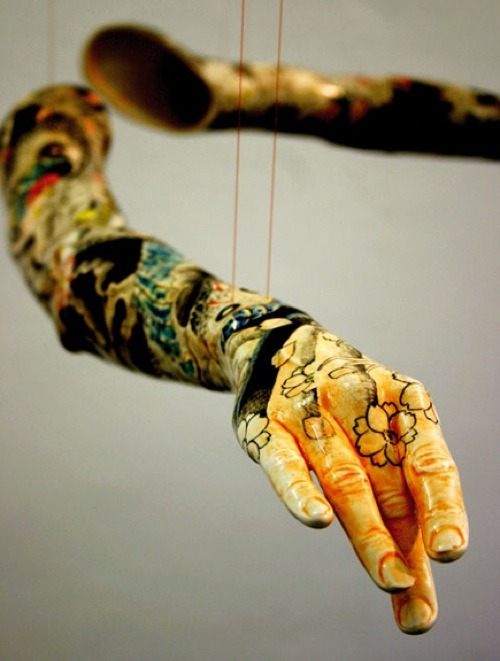 ordovicianfauna:  Tattoo sculpture by Korean artist Min Jeong Seo.