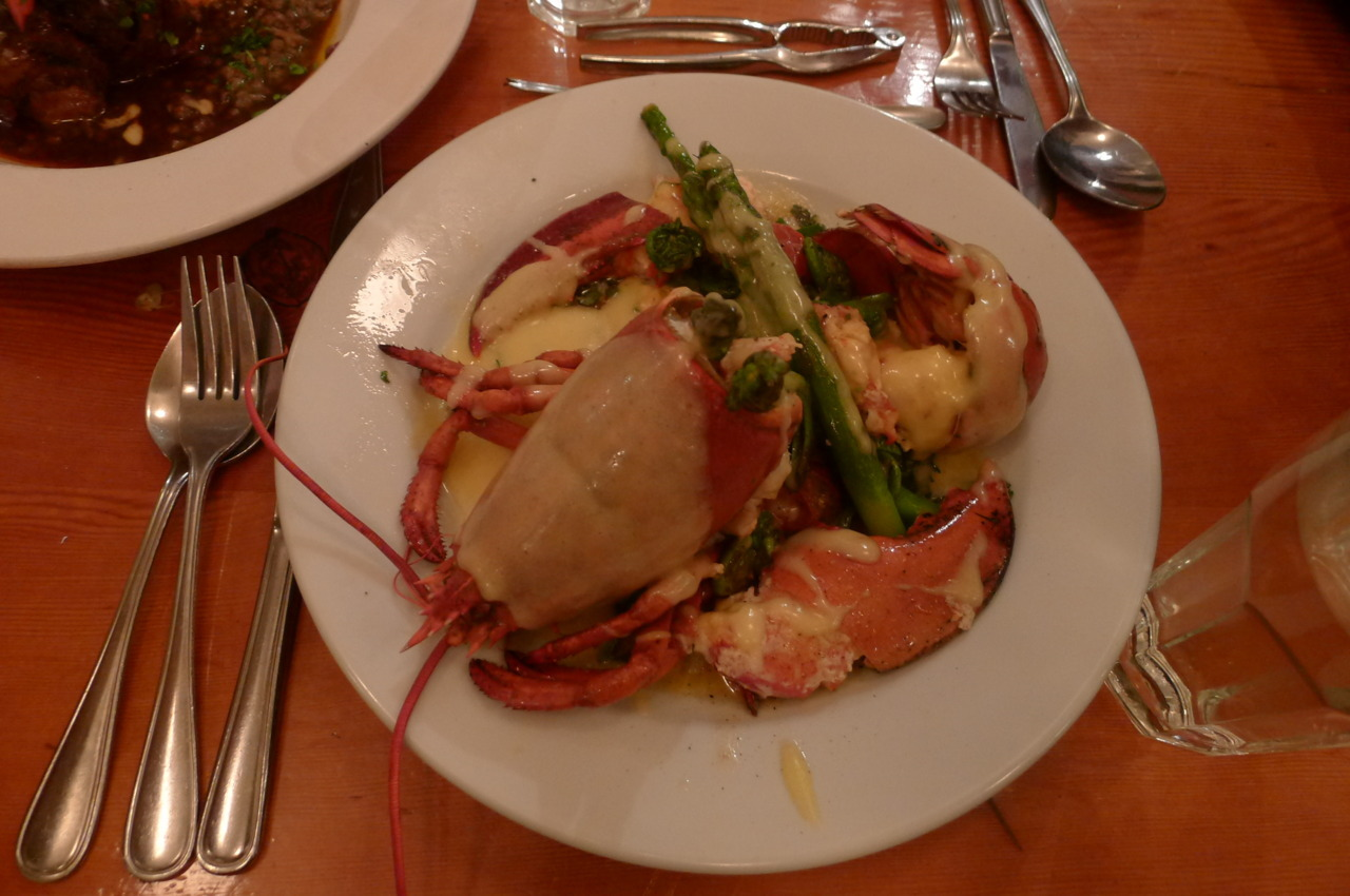 I still had a full lobster after a big plate of fruits de mer. I was in seafood heaven! @ Au Pied de Cochon, Montreal