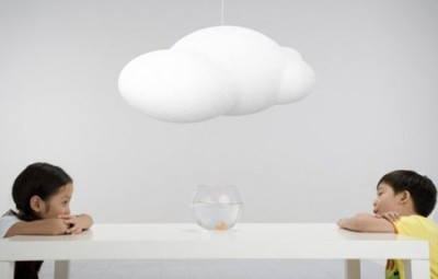 Lamp That Looks Like A Cloud (Note to those here who follow the MKTG Tumblr: I posted this item there this morning by mistake. Too many Tumblrs! Apologies for being repetitive.)