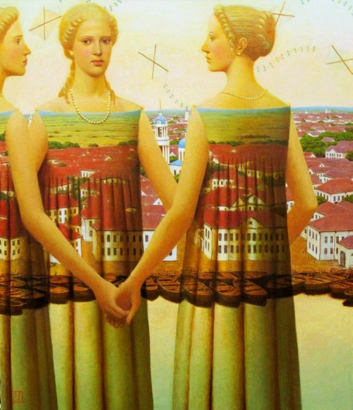 worldpaintings:  Andrey Remnev (Russian, b. 1962) Wind Rose, oil on canvas, private collection.