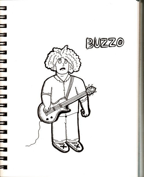 King Buzzo (Melvins) Thanks for all the suggestions of who to draw, I started with the King because I just wanted to draw his hair! Tomorrow: GG Allin!