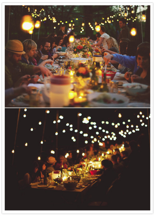 Someday, I will host dinner parties in my backyard like this one…