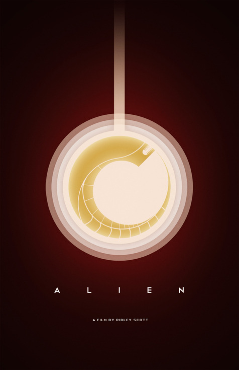 geek-art:    Geek-Art.net  Casimir Fornalski : Alien Poster Gorgeous poster by Casimir Fornalski, whose website is unfortunately unreachable… If you find it, do not hesitate to mention it in the comments guys ! via Reelizer