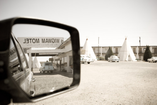 From the series `On the road`. Wigwam motel.