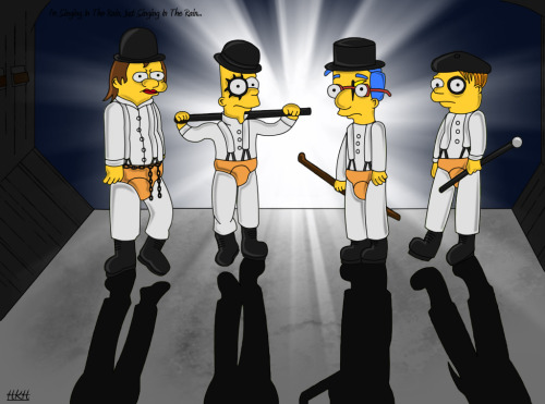 Celebrando 40 años de Beethoven, sexo y Ultraviolencia A Clockwork Simpsons por PixieDust01 Celebrating 40 years of Beethoven, sex and ultraviolence A Clockwork Simpsons by PixieDust01