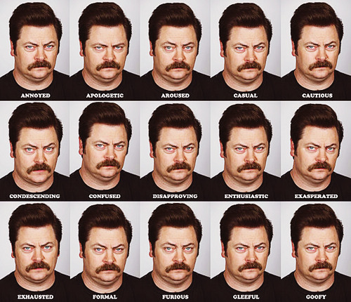 upshot:  The Many Faces of Ron Swanson