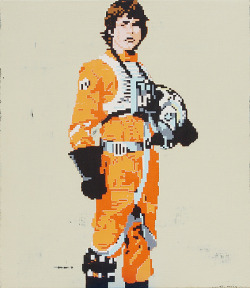 Luke Skywalker acrylic on canvas26 x 30 incheshbt11-032011Available for purchase HERE  From hollisbrownthornton.