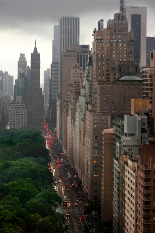 Central Park South, New York City (via 20x200 - Print Information | Central Park South, by Joseph O. Holmes)