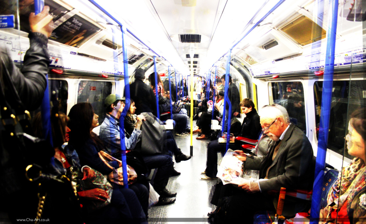 Photos on the piccadilly line.