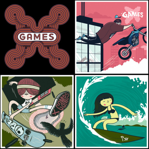 X Games 2011 Brand Illustration South African illustrator and graphic designer Jordan Metcalf was recently commissioned by X Games to create a series of youth marketing illustrations and key art for the upcoming summer and winter X Games.  Overall I feel like it's a nice change from the gritty or tech heavy branding typically used for the X Games.  Check out more of the characters and treatments in his Behance portfolio.