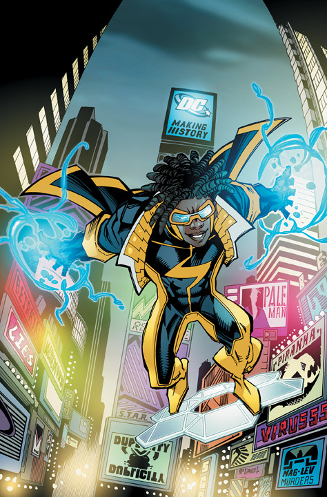 DC Comics - The Next Generation of Justice: Static Shock #1 by John Rozum, Scott McDaniel and Jonathan Glapion  Virgil Hawkins has been gifted with incredible electrical powers.  Adopting the persona of Static, he faces super-powered street gangs,  raging hormones, homework, and girls in STATIC SHOCK #1, co-written by  John Rozum and Scott McDaniel, with McDaniel also illustrating along  with Jonathan Glapion.