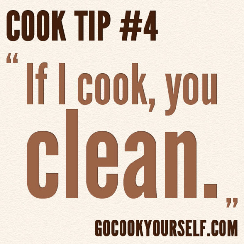 Cook Tip #4 (Suggested by kallib) Got a tip? Leave it in our ask box - if we use it, you'll get credit!