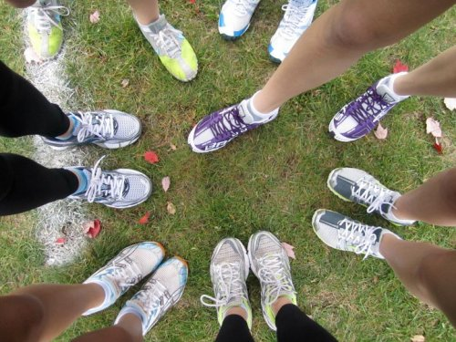 Cross Country <3 I'm the spikes with the neon tips and blue Nike swoosh.