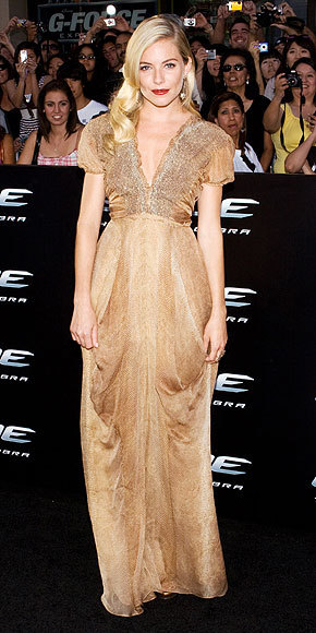 Gold Rush Sienna in YSL at the G.I. Joe premiere (Source: people.com)