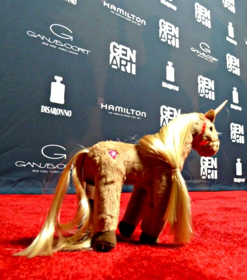 Pepper the Unicorn loves a red carpet.