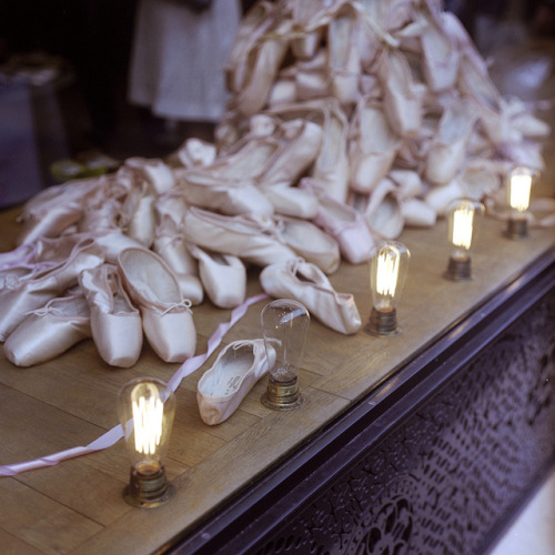 ballet shoes and light bulbs by naprisi on Flickr.