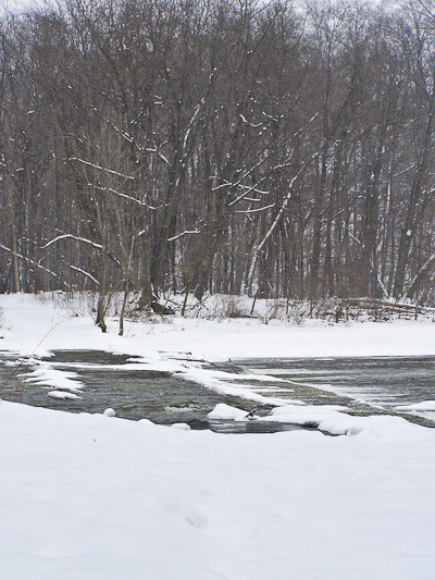 Winter vs. Spring on Flickr.The Rocky River after a late spring snow, 2007.
