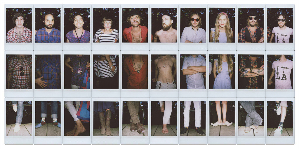I must try this one day. Photo Collage of Edward Sharpe & The Magnetic Zeros by Brad Klemmer. Taken with