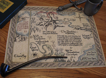 Thror's Map, from The Hobbit.