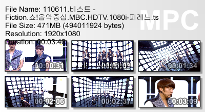 110611 Music Core - Fiction Megaupload CR: 피레느 + Yui@ beastdownloads.tumblr.com