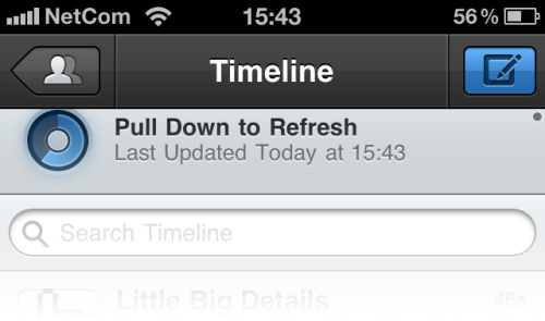 Tweetbot - The refresh-circle spins as you drag it down. /via Simgust